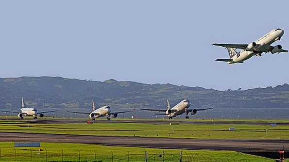 Aircraft Airplane Airport Airfield Take-Off New Ze