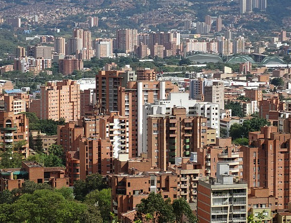 Colombia Buildings Architecture City Medellin Urba