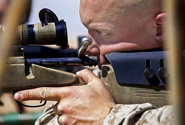 Man Gentleman Armament Rifle Ransack Weapon Aiming