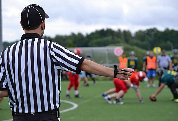 American Football Arbitrator Football Ball Referee