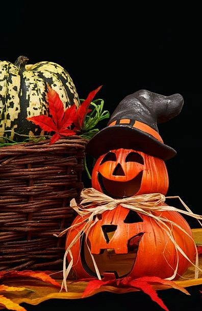 Autumn Dark Dim Black Pumpkin Decoration Beautific