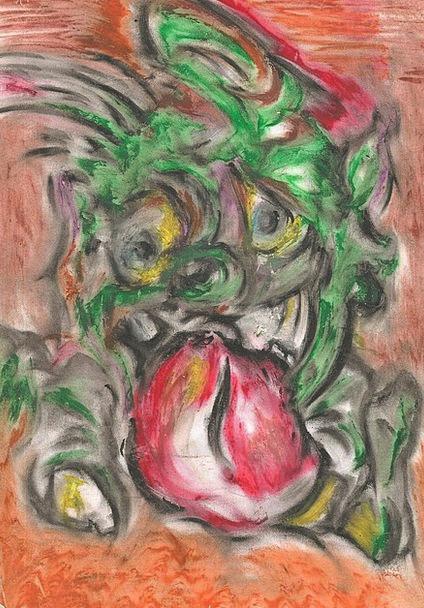 Goblin Elf Rude Chalk Write Cheeky Fun Scary Frigh