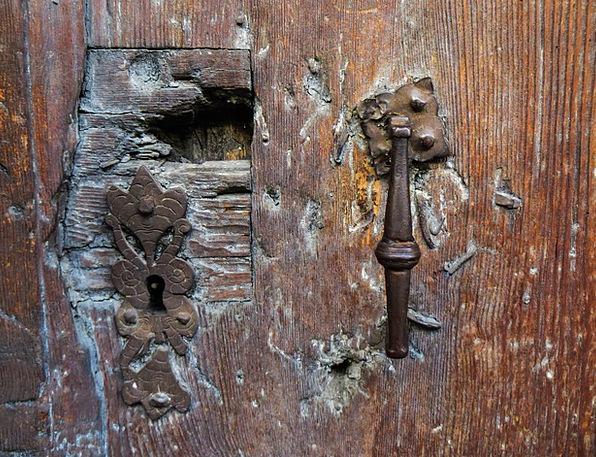 Old Ancient Entrance Door Lock Door Rusted Corrode