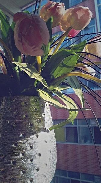 Vase Urn Flower Floret The Morning Sun Artificial