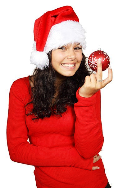 Ball Sphere Trinket Christmas Bauble Red Claus Hat