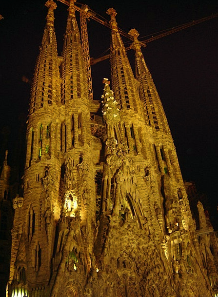 Sagrada Familia Ecclesiastical Night Nightly Churc