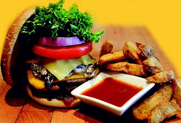 Hamburger Meal Mealtime Burger Fast Debauched Dinn