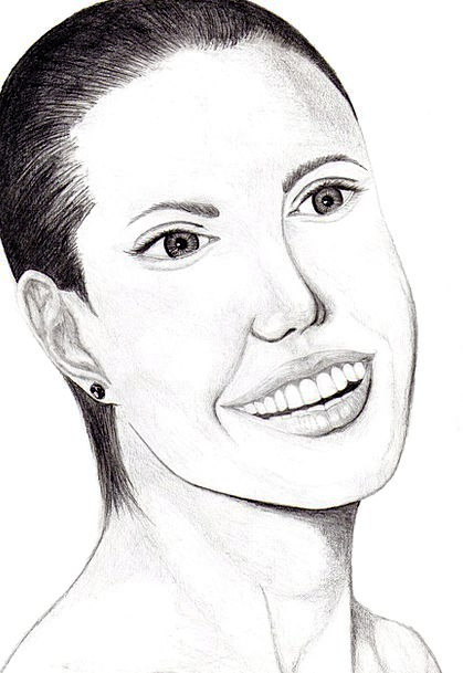 Angelina Jolie Sketch Art Painting Drawing