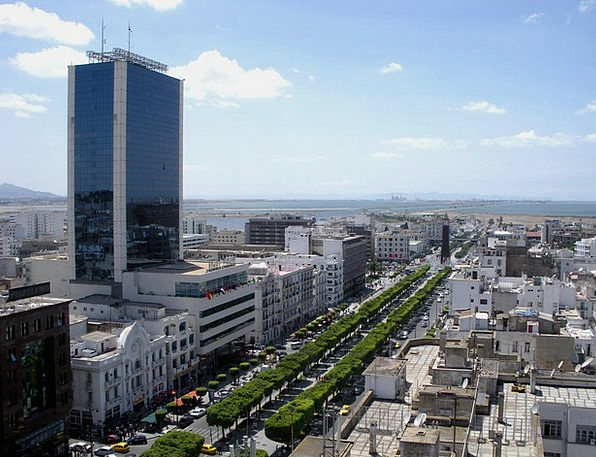 Tunis Traffic Transportation Sky Blue Tunisia Vehi