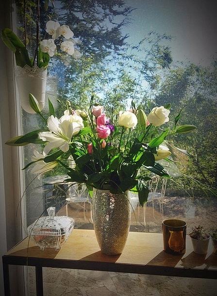 Bouquet Bunch Pink Flushed Flowers Petals Blossome