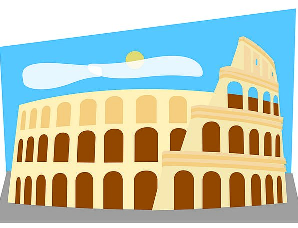 Colosseum Buildings Architecture Roman Classical R