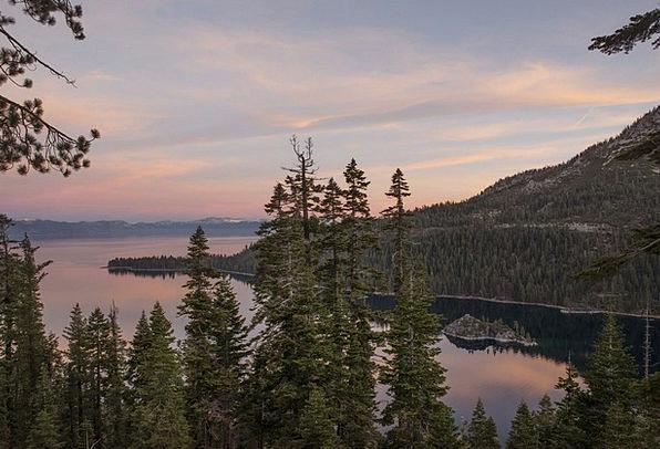 Lake Tahoe Landscapes Nature Landscape Scenery Dus