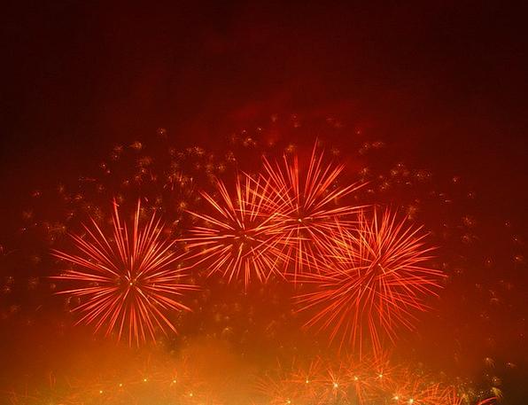 Fireworks Rockets Showpieces Celebration Festivity