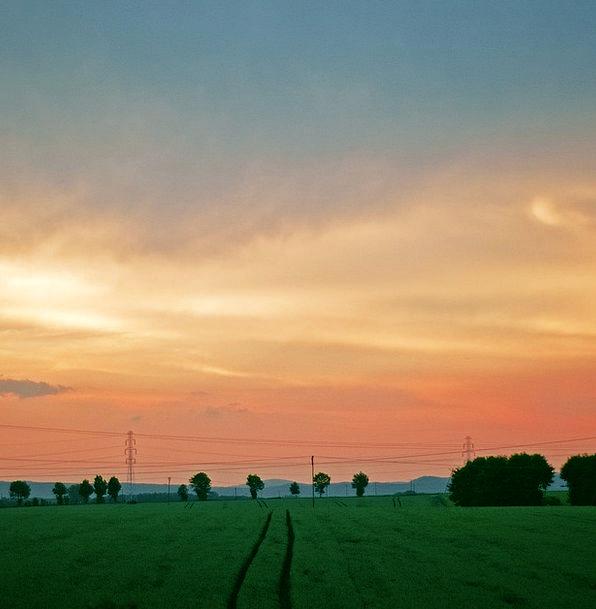 Landscape Scenery Landscapes Blue Nature Evening T