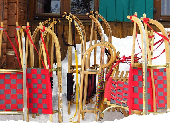 Slide Transparency Shed Snow Snowflake Hut Winter