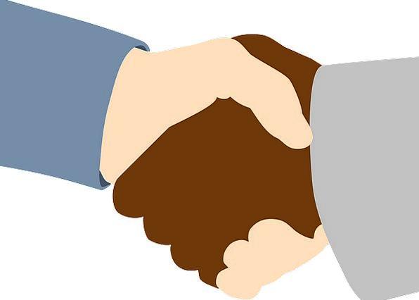 Handshake Handclasp Finance Dark Business White Sn