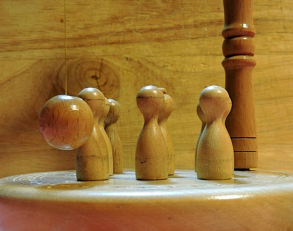 Game Willing Wood Timber Ninepins Ball Sphere Pend