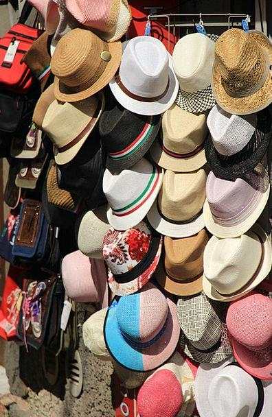 Hats Caps Booth Straw Hat Kiosk Sun Hat Headwear S
