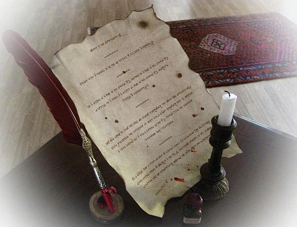 Parchment Antique Pen Coop Ancient Candle Taper