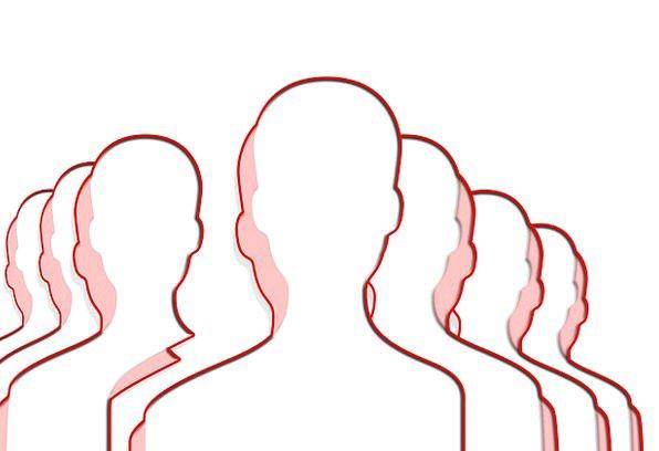 Silhouettes Outlines Menfolk Head Skull Men Figure