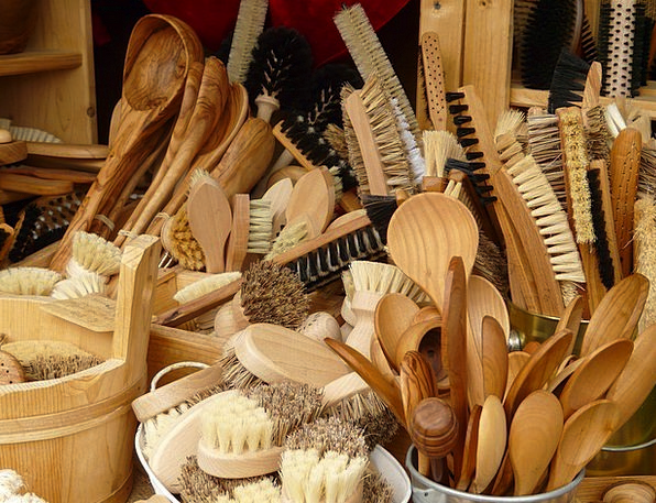 Cooking Spoon Encounters Articles Of Wood Brushes