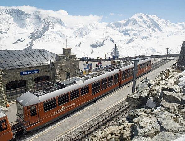 Gornergrat Gornergratbahn Rack Railway Alpine Swit