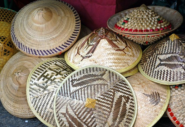 Hat Cap Caps Straw Grass Hats Conical Tapering Ric
