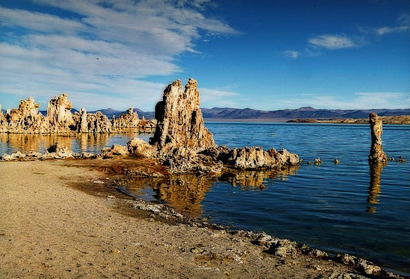 Mono Lake Landscapes Nature Tuff Tufa Scenery Late