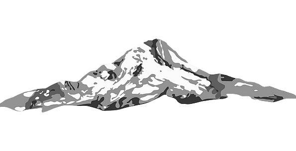 Mountain Crag Landscapes Nature Sketch Draft Landf