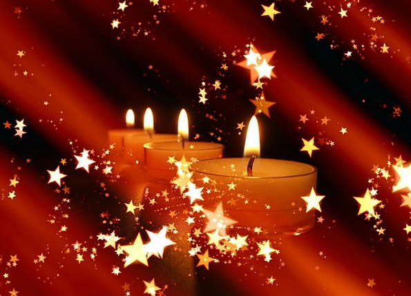 Candles Tapers Interstellar Christmas Star Romance