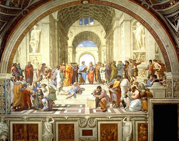 Fresco School Of Athens Mural Raffaello Sanzio 151