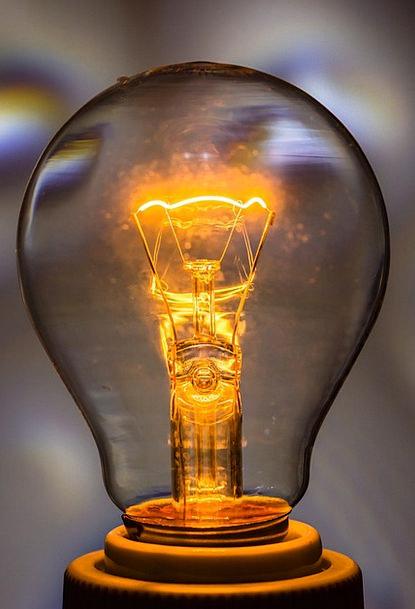 Light Bulb On Burn Injury At Glass Light Bright Di