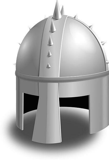 Helmet Hat Metallic Mediaeval Feudal Metal Reinact
