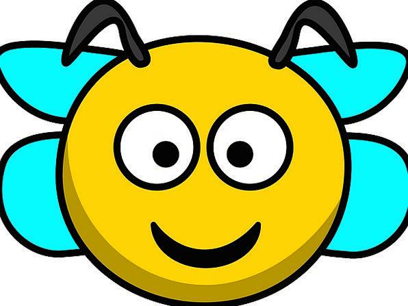 Bee Skull Smile Beam Head Wings Annexes Free Vecto
