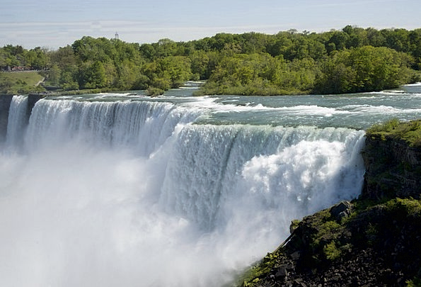 Niagara Falls Landscapes Cascades Nature River Str
