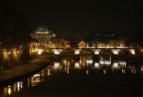 Rome Buildings Architecture Night Nightly The Vati