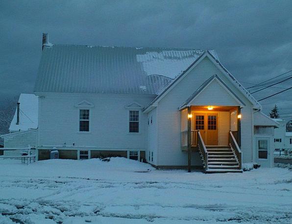 Church Ecclesiastical Snowflake Winter Season Snow