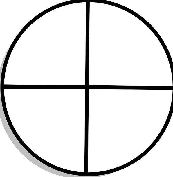Circle Ring Form Quadrants Shape Sectors Subdivisi