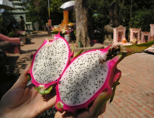 Dragon Fruit Drink Food Fruit Ovary Cambodia Eat B