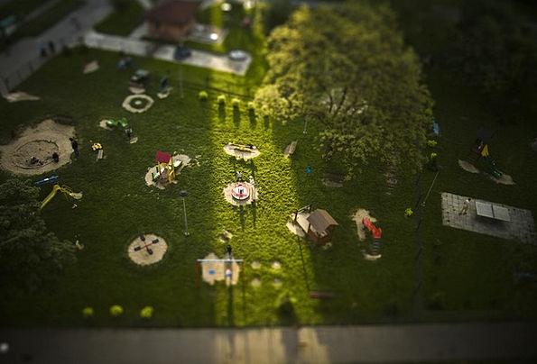 Playground Park Tiltsshift Warsaw Fun Amusing Play