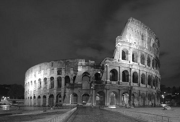 Colloseum Vacation Travel Black And White Rome Nig