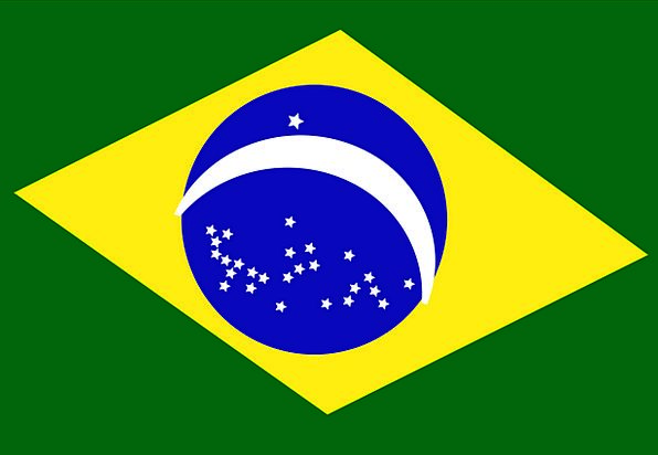 Brazil Standard National Nationwide Flag Free Vect