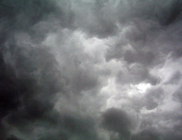 Clouds Vapors Dim Grey Old Dark Cloudy Sky Blue Th