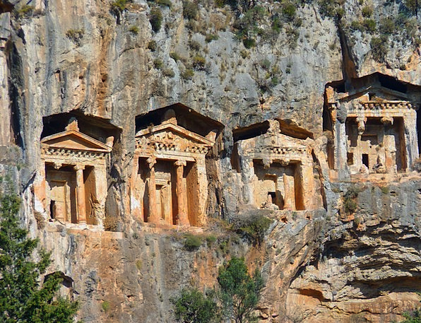 Rock Tombs Shrine Columnar Temple Antiquity Caves