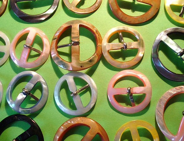 Loops Rings Colors Insignia Mother Of Pearl