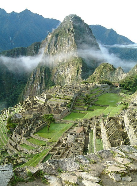 Machu Picchu Peru Incas Temple Shrine Andes Urubam