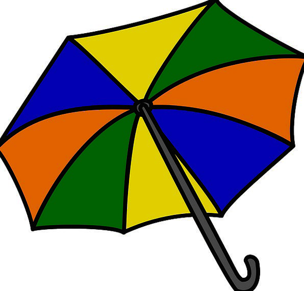 Umbrella Canopy Vacation Insignia Travel Rain Voll