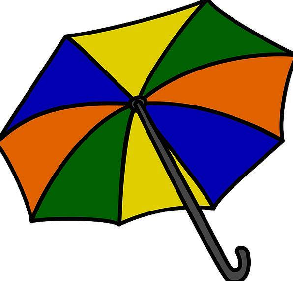 Umbrella Canopy Vacation Insignia Travel Rain Voll