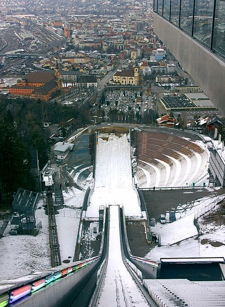 Ski-Jump Hurdle Austria Jump Tirol Alpine Innsbruc