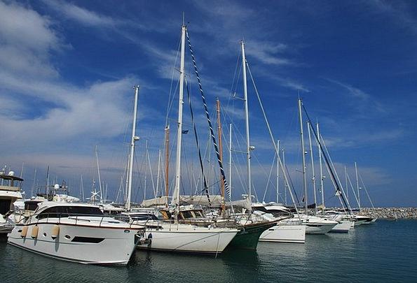 Port Harbor Ships Masts Poles Boats Boat Masts Sai